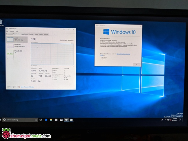 最新-在树莓派3B 上安装 Windows 10 ARM 版的方法,可以运行exe